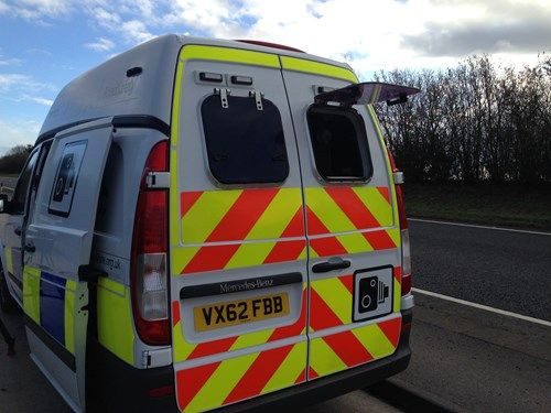 a mobile police camera van