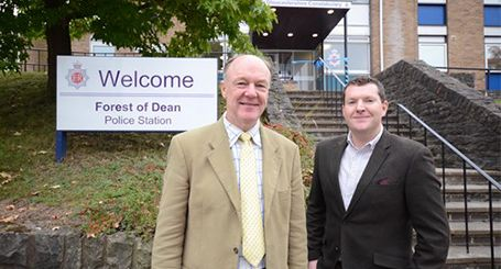 Police and Crime Commissioner Martin Surl and Deputy Chris Brierley