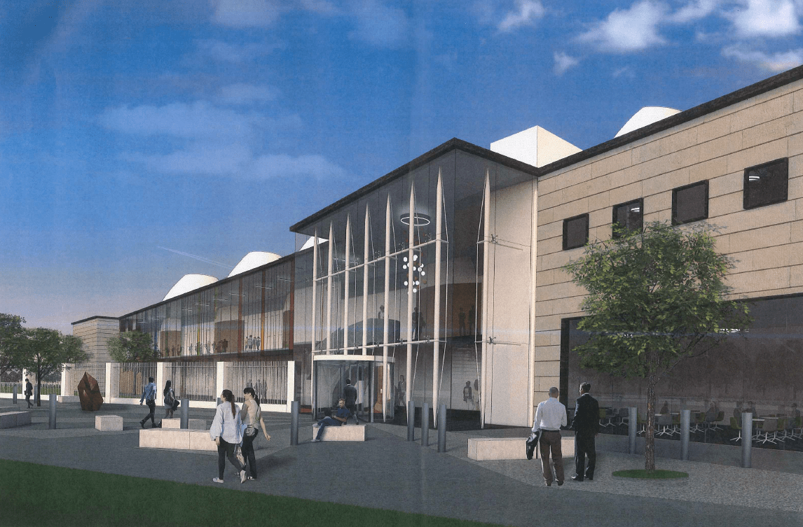 Artist impression of new justice centre for Gloucester
