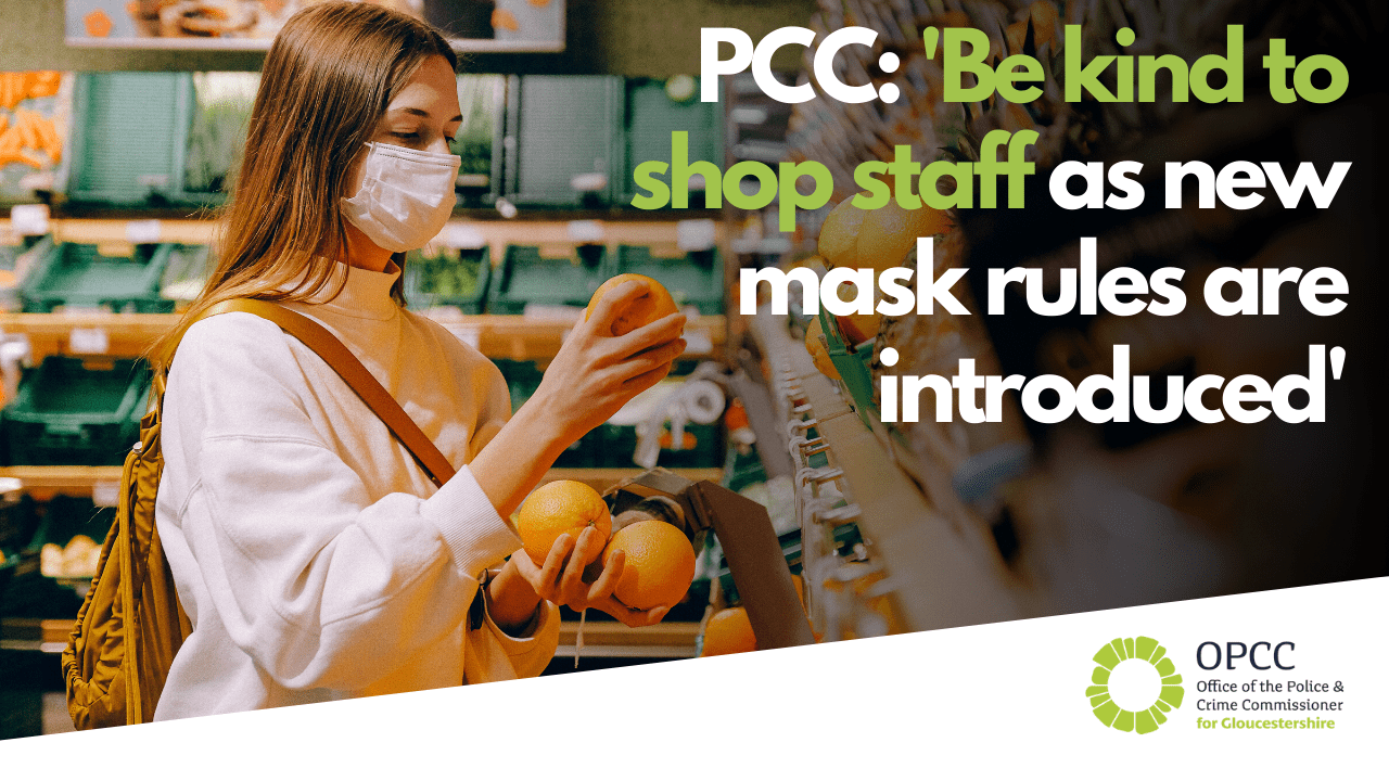 PCC says be kind to shop staff as new mask rules are introduced