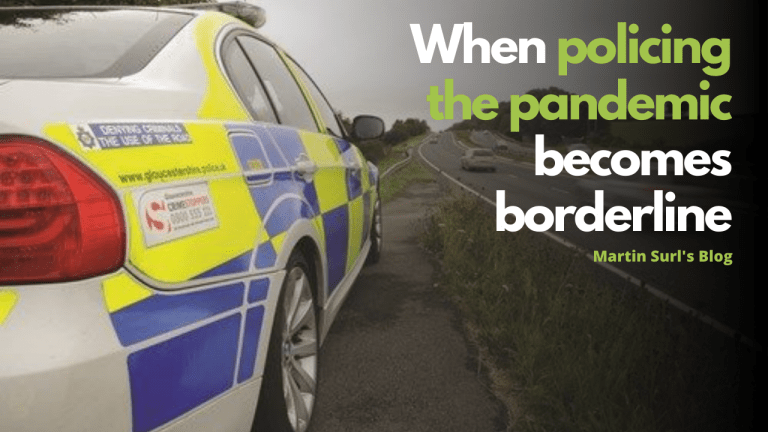 Martin Surl Blog on policing border