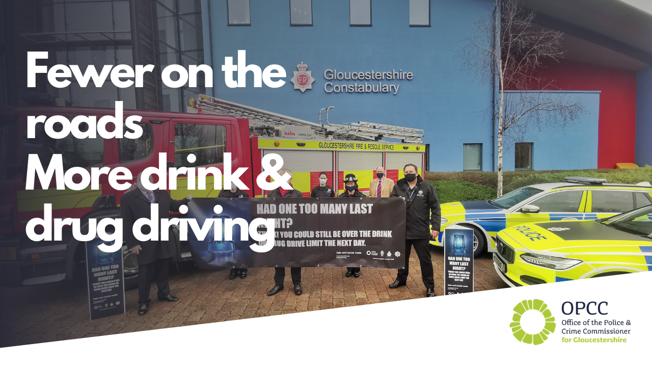 Fewer on the roads more drink and drug driving in Gloucestershire