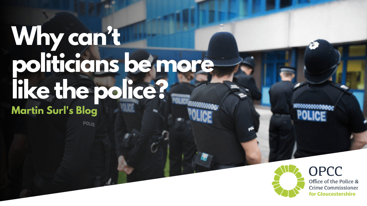Why can't politicians be more like the police?