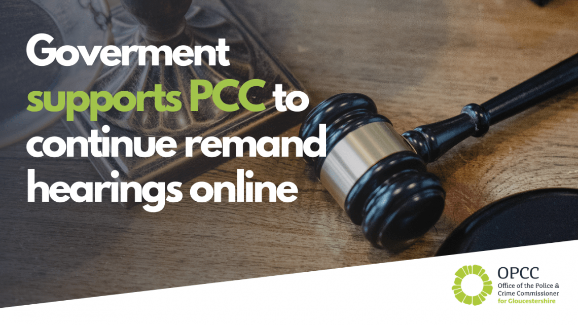 Government supports PCC to continue remand hearings online