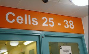 cell block within a custody building in Gloucestershire