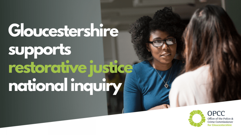 Gloucestershire provides insight into restorative justice for national inquiry