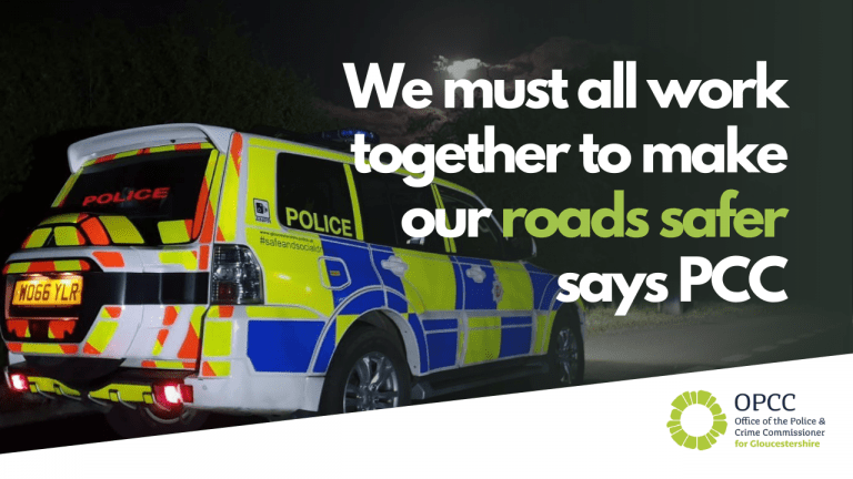 We must all work together to make our roads safer says PCC