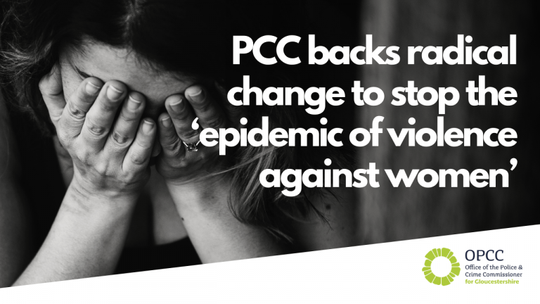 PCC backs radical change to stop the 'epidemic of violence against women'